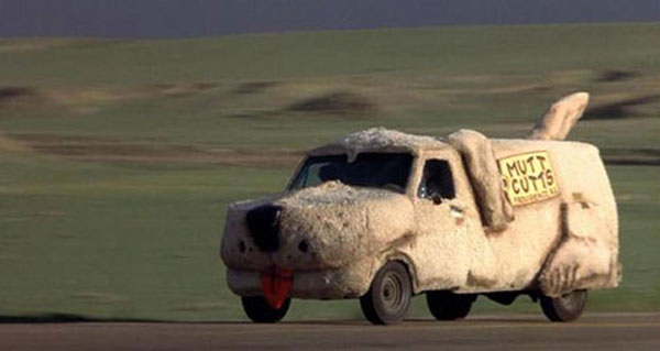 Mutts Cutts van from Dumb and Dumber.
