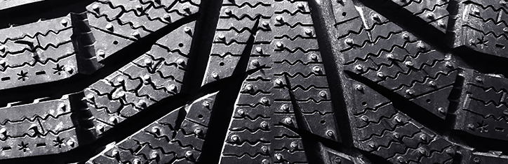 Tread on a winter tyre